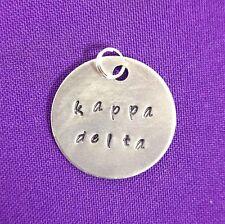 Sorority Greek Kappa Delta Hand Stamped Charm Licensed Ann Peden
