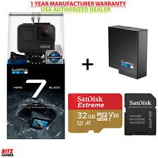 GoPro USA Hero 7 Black Camera+ GoPro Extra Battery+ Sandisk 32GB (CHDHX701)