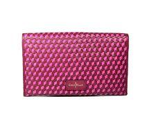 Cole Haan Women Parker Weave Leather Envelope Clutch Bag Pick Your Color