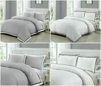 Egyptian Cotton Duvet Cover Bedding Set Pillowcase Double King Size Quilt Covers