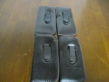 4 Soft Sided Eye Glass Cases with Clip, Dark Brown in Color