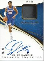 2019-20 Immaculate Sneaker Swatches Signatures #15 Julius Randle Auto /49  NM-MT