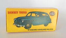 Repro box DINKY Nº 153 standard vanguard saloon bleu foncé