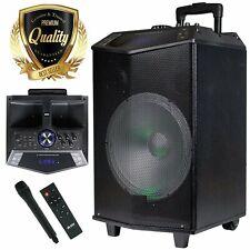 EMB 1200W Portable KARAOKE PARTY PA DJ SPEAKER SYSTEM  /Mic / SD/ USB/ Bluetooth