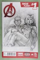 ORIGINAL COVER ART FRONT/BACK by SMITTY,AVENGERS ROGUE PLANET 1  FREE SHIP*