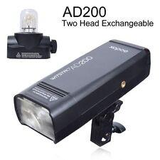 Godox AD200 2.4G TTL 1/8000s HSS 2900mAh Double Head Pocket Flash Speedlite
