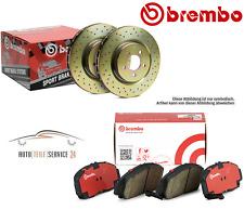 Brembo Bremsenkit Bremsscheiben 253mm Voll und Beläge Hinten für Audi A3 VW Golf