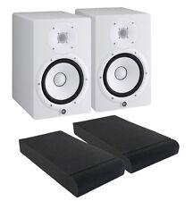 COPPIA Yamaha HS8 White Monitor da Studio 120W + ISO PADS, NUOVI Garanzia ITA