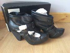 Glorious Women's Nebraska Bootie Heel Black Pu 20005 5 UK