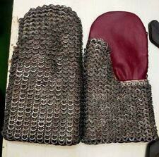 Chainmail Gloves- 8mm 17 gauge-flat-ring alt solid ring dome riveted