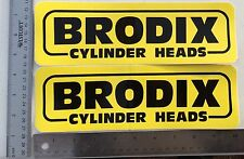 Set Of 2 Brodix Cylinder Heads Racing Stickers. 3 1/4 X 10 1/4. Original