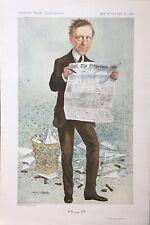 Original Vanity Fair Print 1911 '? ——— !' James Louis Garvin - Newspapermen