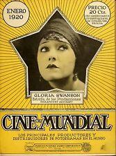CINE-MUNDIAL MAGAZINE 300 issues 1930-1940 Silent movie stars SPANISH LANGUAGE
