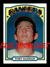1972 Topps 2-255 EX/EX-MT Pick From List All PICTURED