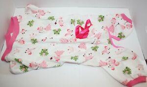 """Princess Frog Prince Lightweight Snap Close Dog Pajamas Jumpsuit 17"""" Length"""