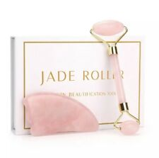 Rose quartz Jade Roller Crystal Stone Face Skin Massage Collection Set