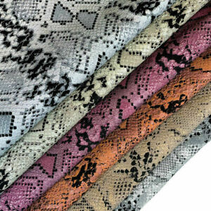 Soft Various Colors Snakeskin Print Leather //Choose your size and color// Lambs