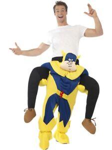Bananaman Piggy Back Costume Smiffys Fancy Dress Costume