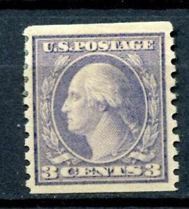 SCOTT # 493  -  SINGLE 3 CENT G WASHINGTON STAMP - F/VF  - OG  - HINGED   - MINT