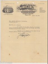 VINTAGE ILLUSTRATED COMMERCIAL LETTER / EL COMETA / PONCE PUERTO RICO / 1941 #1
