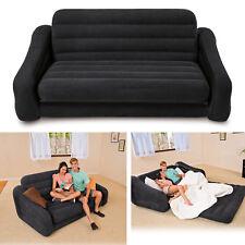 Inflatable Sofa Bed Folding Convertible Flip Queen Size Sleeper Lounger Mattress