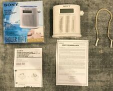 New ListingMint & Rare! Sony Icf-S79V Shower Mate 4 Band Tv/Weather/Am/Fm Radio with Timer