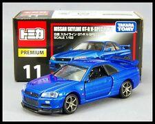 TOMICA PREMIUM 11 NISSAN SKYLINE GT-R V-PEC II NUR R34 1/62 TOMY DIECAST CAR