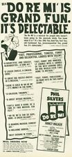 "1961 St. James Theatre Print Ad Phil Silvers Musical ""Do Re Mi"" Fun detailed"