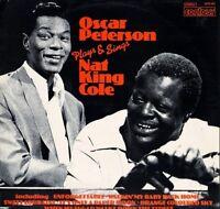 OSCAR PETERSON plays and sings nat king cole 6870 603 uk contour LP PS EX/EX