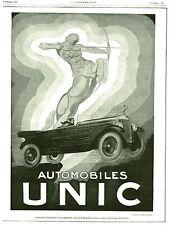 """Publicité Ancienne """" Automobiles UNIC 1925 """" ( P. 25 )"""