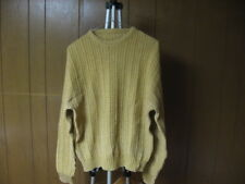 Vintage Men's L Large Tan Beige Knitted Style Sweater