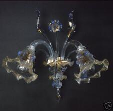 applique di Murano Originale 2L blu/oro