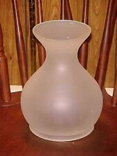 "Lovely 9 1/4"" Tall Vintage Frosted ASTRAL SOLAR LAMP SHADE 6"" fitter"