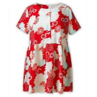 ALICE & YOU Womens Vintage Floral Tunic Top Loose Fit Short Sleeve Size 12 14 16