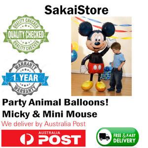 Helium Foil Balloons Disney Micky Mickey Mouse Figurine Minnie Birthday Party