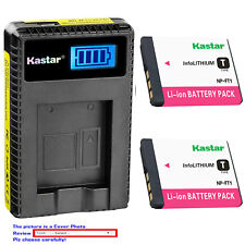 Kastar Battery LCD USB Charger for Sony NP-FT1 FT1 & Sony Cyber-shot DSC-T5