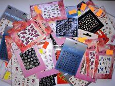 50x BLATT SHEET Stickers Nagelaufkleber Nail Art MIX