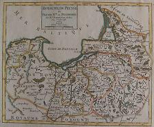 "Preussen/Polska ""Royaume de Prusse"" color. Kupferstichkarte von Robert  ~ 1750"