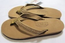 8940f71ec3e40 Womens Small Rainbow Willow Sandals Leather Double Layer Sierra Brown Flip  Flops
