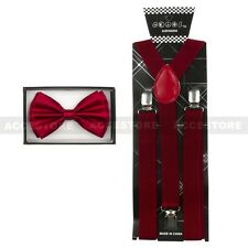 SUSPENDERS and BOW TIE COMBO SET-Tuxedo Classic Fashion Suspender and Bowtie New