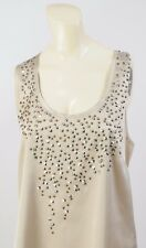 Vince Camuto Top Blouse Studs Sparkle Campaign Tank Top Sleeveless Size Small S