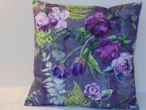 Designers Guild  floral 100% Cotton Fabric Tulipani Amethyst Cushion Cover