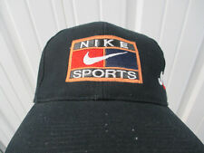 VINTAGE NIKE SPORTS LOGO JUST DO IT SEWN BLACK SNAPBACK CAP HAT PREOWNED 90s