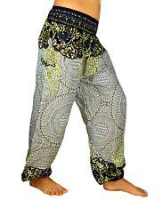 Sarouel Femme Pantalon Ethnique Aladin Harem Pant Aladdin yoga blanc gris