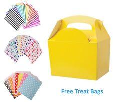 5 Caja de harina de alimentos Amarillo Fiesta De Cumpleaños Cajas De Almuerzo y GRATIS bolsa de papel Pastel de caramelo