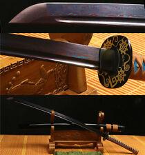 41'DAMASCUS FOLDED STEEL BLUE JAPANESE SAMURAI SWORD KATANA VERY SHARP