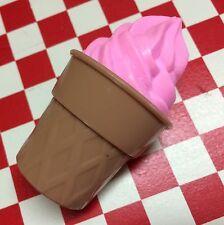 VTG Pretend Play Food Strawberry Swirl ICE CREAM CONE Dessert Treat