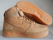 WMNS NIKE AIR FORCE 1 HI HIGH PREMIUM PRM FLAX-WHEAT SZ 5.5 [654440-200]