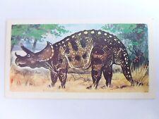 Brooke Bond Prehistoric Animals tea card 26. Triceratops. Dinosaurs.