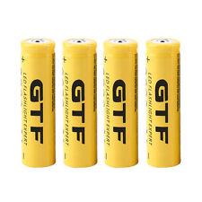 4pcs 3.7V 18650 9800mAh Li-ion Rechargeable Battery For Flashlight Torch HR